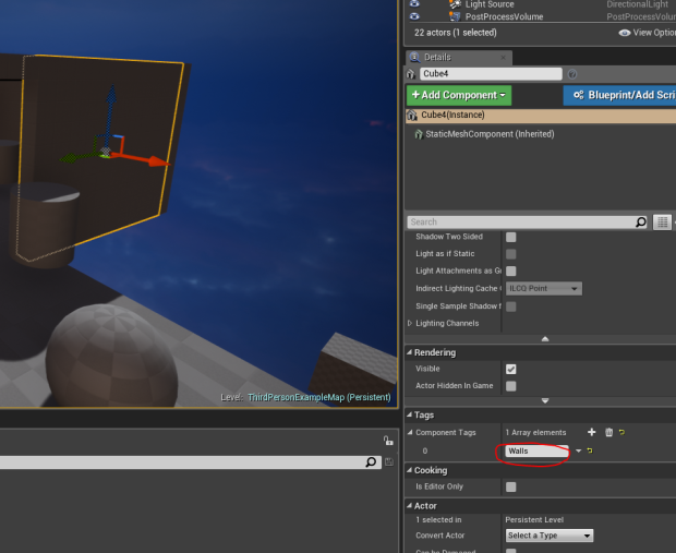 UE4] Editor raytracing for roof detection